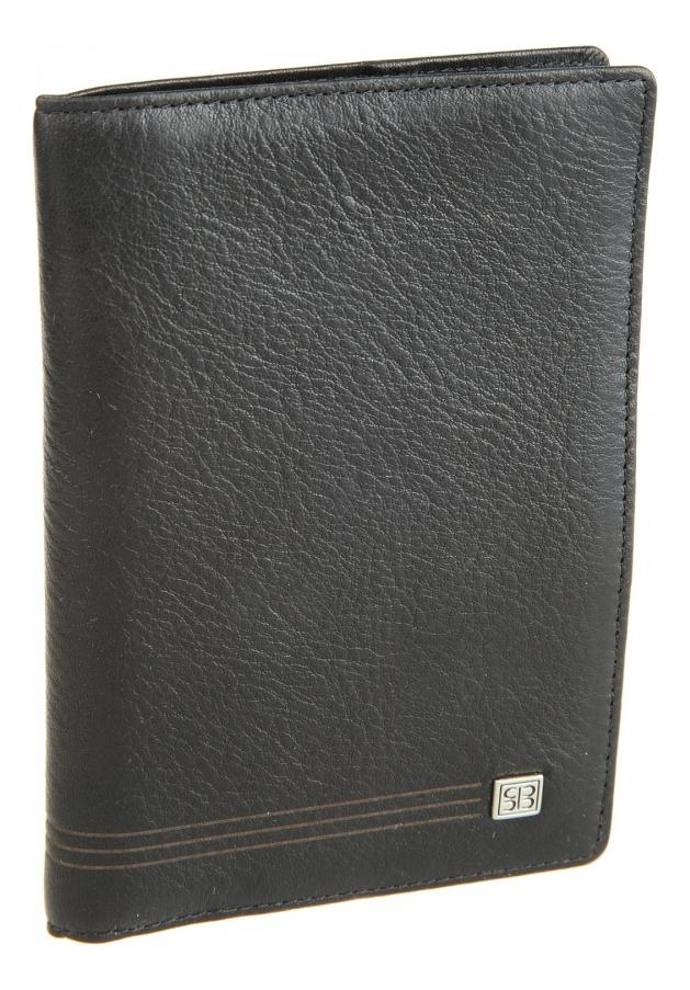 Обложка для паспорта West Black 2464 (черная)