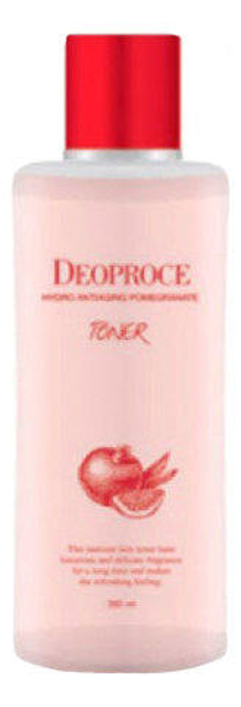 Тонер для лица антивозрастной с экстрактом граната Hydro Antiaging Pomegranate Toner 380мл эссенция для лица с экстрактом ростков баобаба 50мл deoproce musevera
