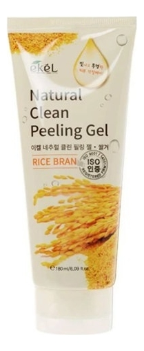 Пилинг-скатка для лица с экстрактом коричневого риса Rice Bran Natural Clean Peeling Gel 180мл пилинг скатка с экстрактом киви farmstay all in one whitening peeling gel kiwi 180мл