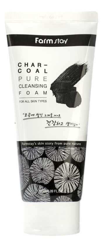 Пенка для умывания с древесным углем Charcoal Pure Cleansing Foam 180мл lebelage пенка для умывания с углем charcoal cleansing foam 100 мл
