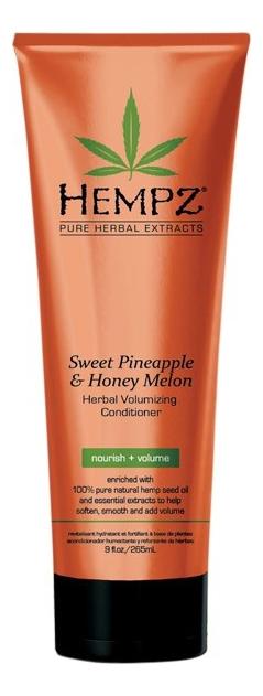 Кондиционер для придания объема волосам Sweet Pineapple & Honey Melon Herbal Volumising Conditioner (ананас и медовая дыня... шампунь растительный для придания объёма 265 мл hempz ананас и медовая дыня