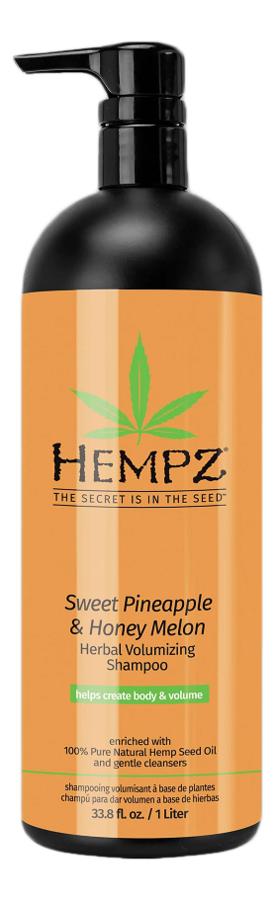 Шампунь для придания объема волосам Sweet Pineapple & Honey Melon Herbal Volumizing Shampoo (ананас и медовая дыня): Шампу... шампунь растительный для придания объёма 265 мл hempz ананас и медовая дыня