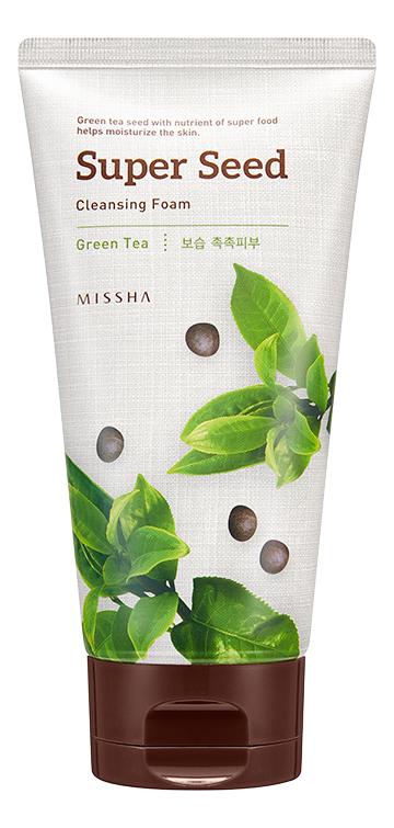Очищающая пенка для умывания c экстрактом зеленого чая Super Seed Cleansing Foam Green Tea 150мл очищающая пенка для лица с экстрактом зеленого чая natural cleansing foam green tea 100мл