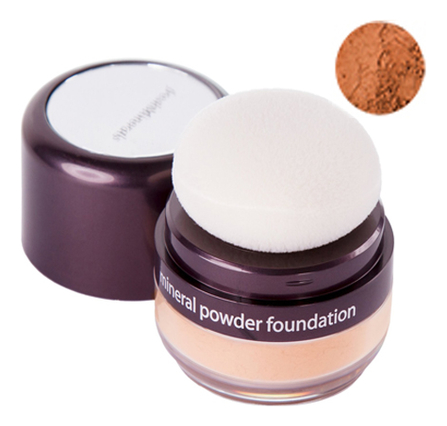 Рассыпчатая пудра-основа с минералами Mineral Powder Foundation 6г (с пуховкой): Tanned
