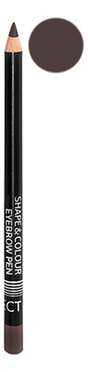 Карандаш для бровей с щеточкой Shape & Colour Eyebrow Pen 1,2г: Dark Brown