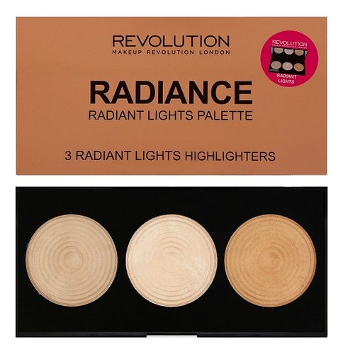 Палетка хайлайтеров Highlighter Palette 11,5г: Radiance