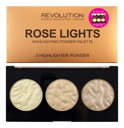 Палетка хайлайтеров Highlighter Palette 11,5г: Rose Lights палетка хайлайтеров для лица light in a box highlighter palette 15г 010 it s glow time