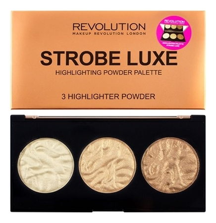 Палетка хайлайтеров Highlighter Palette 11,5г: Strobe Luxe палетка хайлайтеров для лица light in a box highlighter palette 15г 010 it s glow time