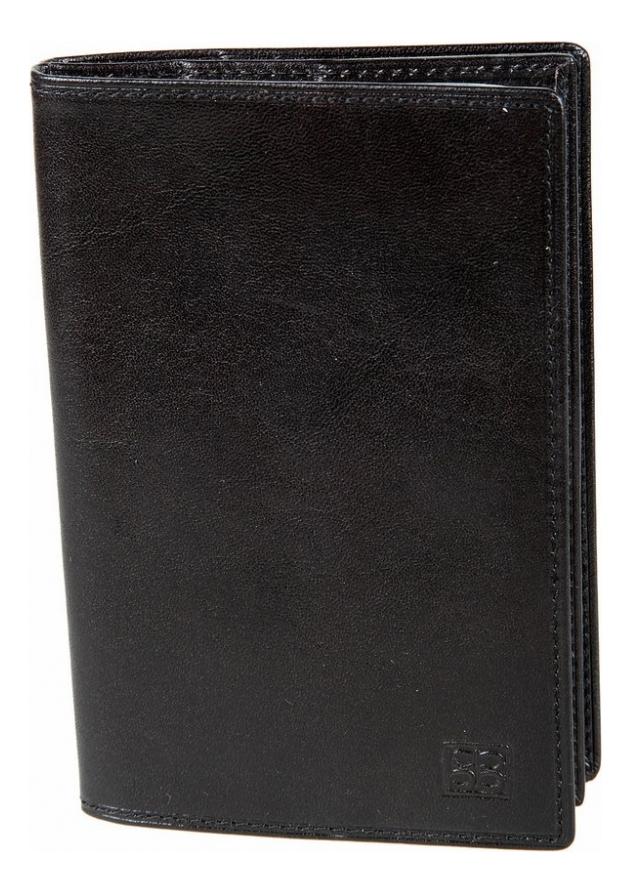Обложка для документов Milano Black 1424 (черная)