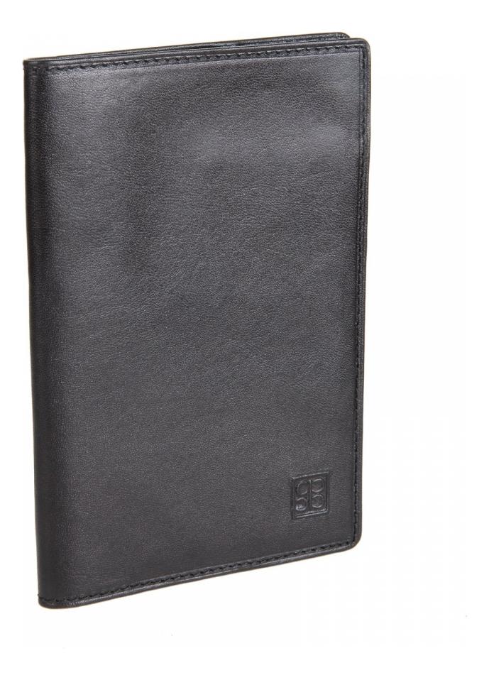 Обложка для паспорта Milano Black 2464 (черная)