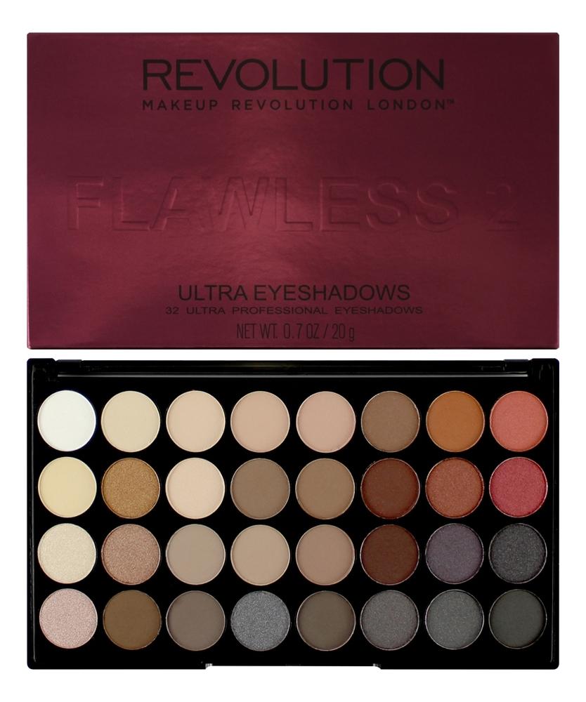 Палетка теней для век 32 Eyeshadow Palette 20г: Flawless 2 палетка теней foil frenzy eyeshadow palette