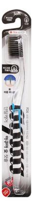 Зубная щетка с древесным углем Nano Charcoal Toothbrush (в ассортименте с прямой ручкой) зубная щетка c наночастицами золота nano gold toothbrush в ассортименте с изогнутой ручкой