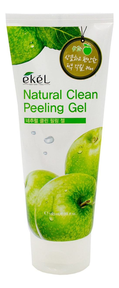 Пилинг-скатка для лица с экстрактом зеленого яблока Apple Natural Clean Peeling Gel 180мл: Пилинг-скатка 180мл пилинг скатка с экстрактом киви farmstay all in one whitening peeling gel kiwi 180мл