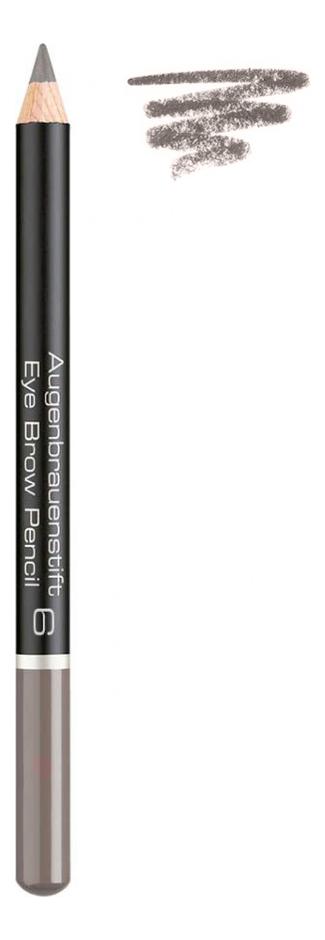 Карандаш для бровей Augenbrauenstift Eye Brow Pencil 1,1г: 6 Medium Grey Brown relouis карандаш brow wow оттенок 03 medium brown