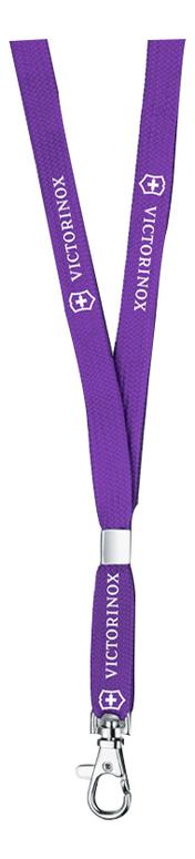 Шнурок на шею с карабином (фиолетовый) шнурок кожаный на шею 09001з