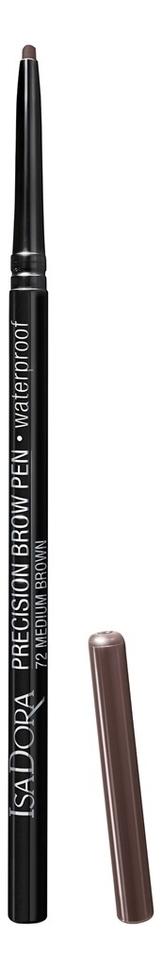 Карандаш для бровей Precision Brow Pen Waterproof 0,9г: 72 Medium Brown relouis карандаш brow wow оттенок 03 medium brown