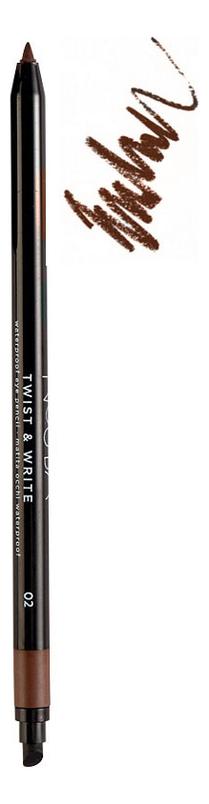 Водостойкий карандаш для глаз Twist & Write Waterproof Eye Pencil 0,5г: No 02 карандаш для век eye pencil тон 01 nouba