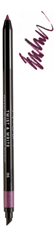 Водостойкий карандаш для глаз Twist & Write Waterproof Eye Pencil 0,5г: No 06 водостойкий карандаш для глаз secretale deep eye pencil 0 2г no 2