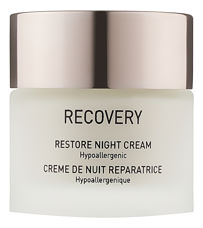 Восстанавливающий ночной крем для лица Recovery Restore Night Cream Hypoallergenic 50мл: Крем 50мл