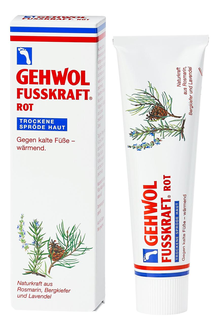 Красный бальзам для сухой кожи ног Fusskraft Rot: Бальзам 125мл