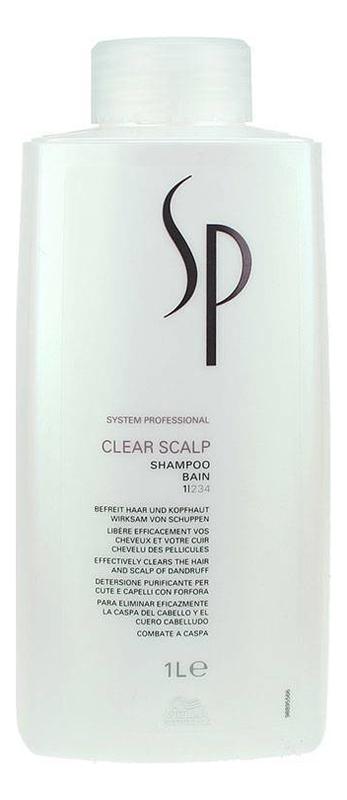 Шампунь против перхоти SP Clear Scalp Shampoo: Шампунь 1000мл интенсивный успокаивающий шампунь против перхоти psoriane intensive shampoo soothing against flaky scalp 125мл