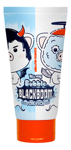 Маска для лица кислородная для очищения пор Hell-Pore Bubble Blackboom Pore Pack 150мл маска для лица magic food choco mushroom cream pore pack tony moly