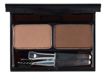 Палетка теней для бровей Top Professional Eyebrow Cake 4г: 01 Natural Brown + Deep