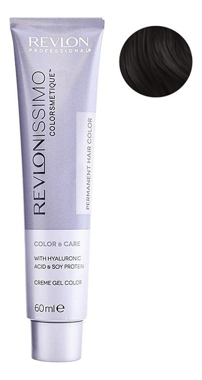 Стойкая краска для волос Revlonissimo Colorsmetique Color & Care 60мл: 1 Иссиня-черный igora vibrance краска для волос 1 1 иссиня черный 60 мл