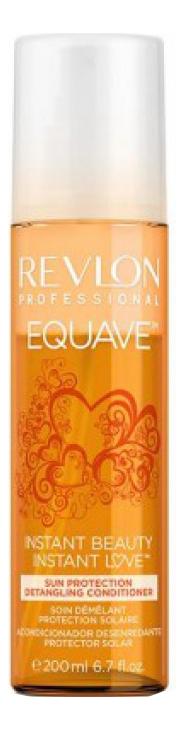 Несмываемый 2-х фазный кондиционер для волос защита от солнца Equave Instant Beauty Sun Protection Detangling Conditioner ... кондиционер несмываемый 2 х против желтизны revlon equave instant beauty blonde detangling conditioner 200 мл