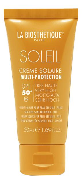 Фото - Водостойкий солнцезащитный крем для лица Soleil Creme Solaire Multi-Protection SPF50+ 50мл водостойкий солнцезащитный крем для лица с высокоэффективной системой spf 50 50 мл la biosthetique1 methode soleil