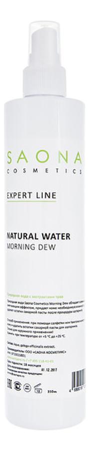 Вода природная после шугаринга Expert Line Natural Water Morning Dew: Вода 200мл креммаска гиалуроновая morning dew 50 мл premium polyfill active