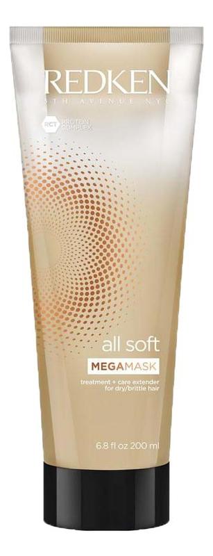 Маска для сухих и поврежденных волос All Soft Mega Mask 200мл redken all soft mega conditioner