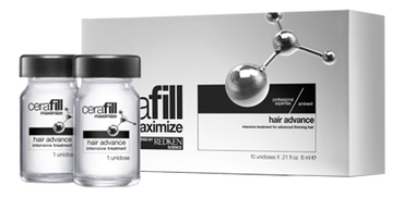 Интенсивный комплекс в ампулах против выпадения волос Cerafill Maximize Hair Advance 10*6мл ампулы двойного действия против потери волос с аминексил и omega 6 cerafill maximize 10х6 мл
