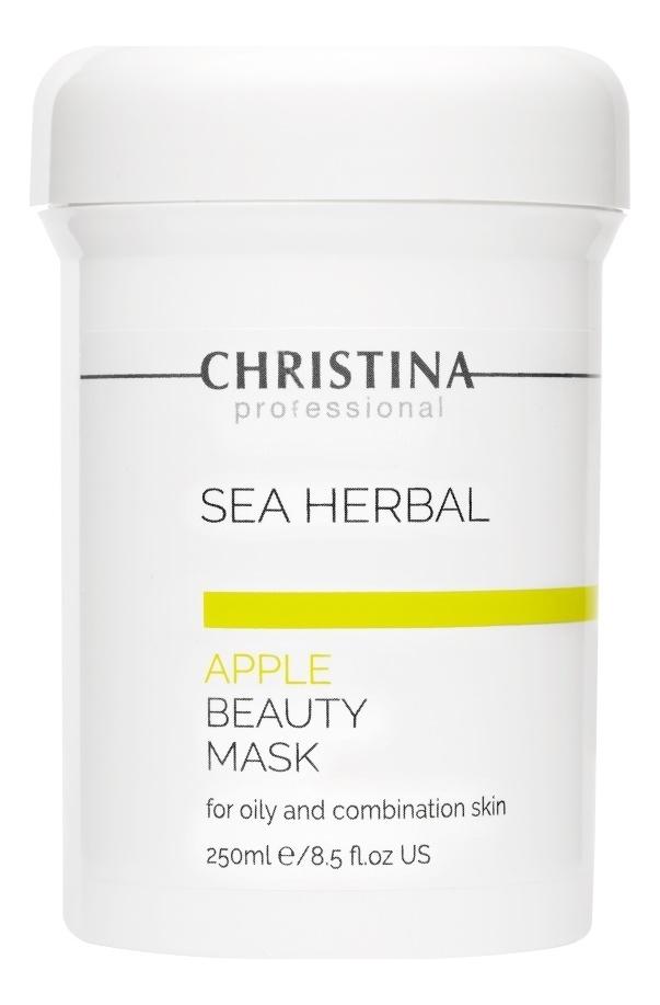 Маска для лица на основе морских трав Яблоко Sea Herbal Apple Beauty Mask: Маска 250мл christina sea herbal маска красоты яблоко 250 мл