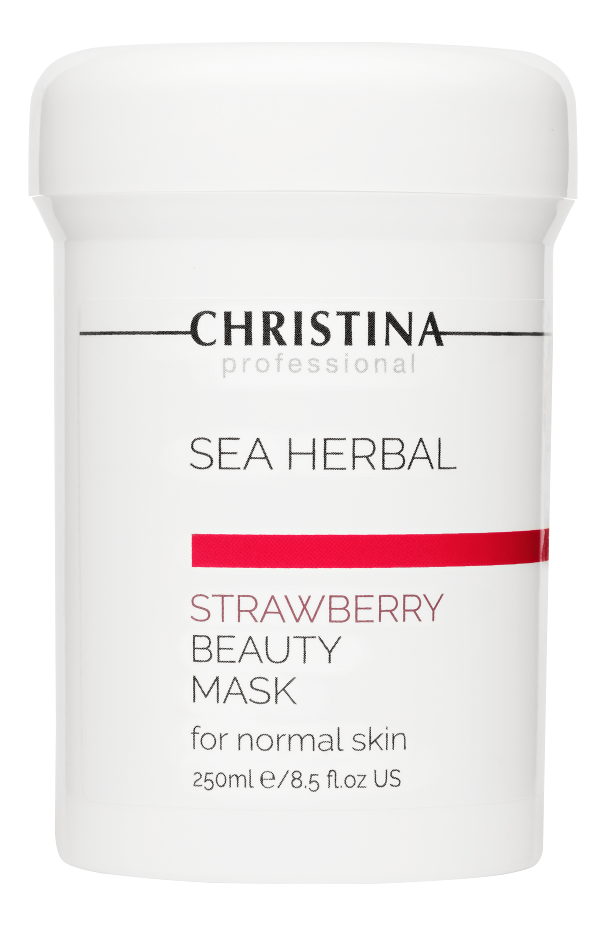 Маска для лица на основе морских трав Клубника Sea Herbal Beauty Mask Strawberry: Маска 250мл