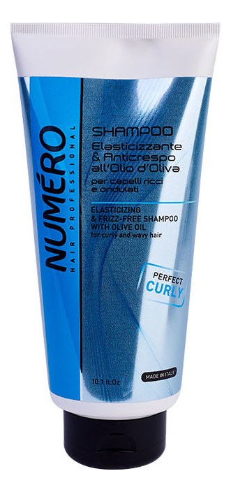 Шампунь с оливковым маслом для вьющихся и волнистых волос Numero Elasticizing & Frizz-Free Shampoo: 300мл