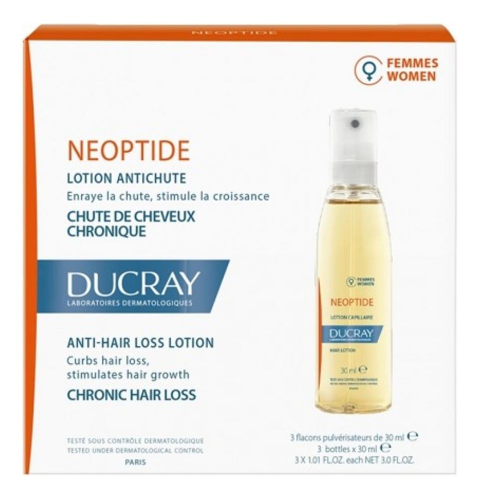 Лосьон для волос Neoptide Lotion 3*30мл ducray neoptide homme lotion antichute лосьон от выпадения волос у мужчин 100 мл