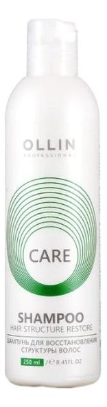 Шампунь для восстановления структуры волос Care Shampoo Restore: Шампунь 250мл укрепляющий шампунь для роста волос care tec shampoo шампунь 250мл