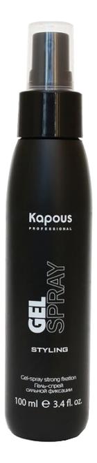 Гель-спрей для волос сильной фиксации Styling Gel-spray Strong 100мл macadamia professional спрей сильной фиксации стиль на замке 43 гр