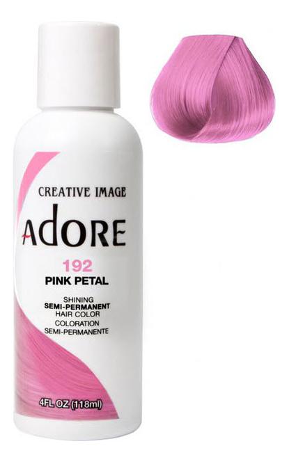 Краска для волос Adore Hair Color 118мл: 192 Pink Petal краска для волос adore hair color 118мл 82 pink rose