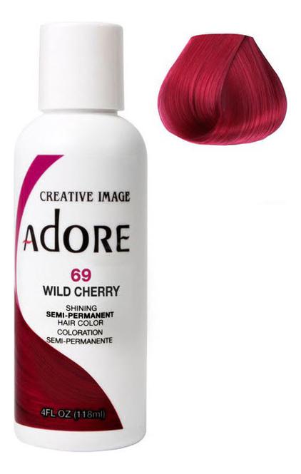 Краска для волос Adore Hair Color 118мл: 69 Wild Cherry краска для волос adore hair color 118мл 82 pink rose