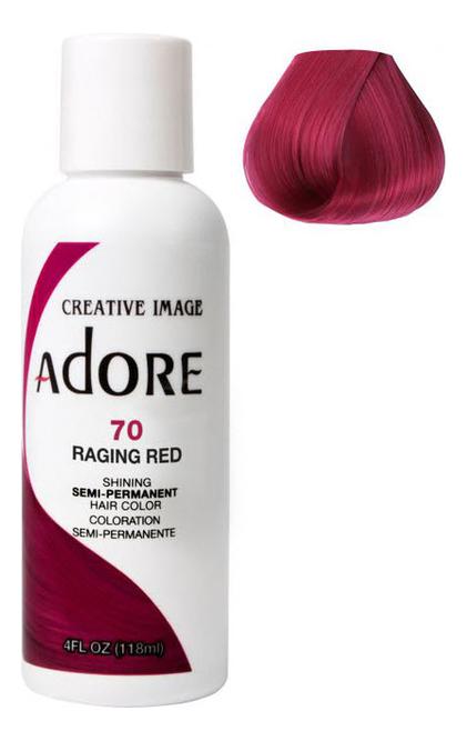 Краска для волос Adore Hair Color 118мл: 70 Raging Red краска для волос adore hair color 118мл 82 pink rose