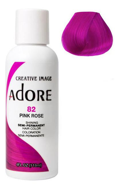 Краска для волос Adore Hair Color 118мл: 82 Pink Rose краска для волос adore hair color 118мл 82 pink rose