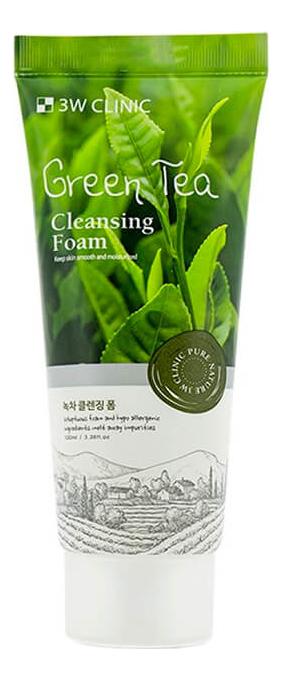 Пенка для умывания с экстрактом зеленого чая Green Tea Cleansing Foam 100мл (натуральная) очищающая пенка для лица с экстрактом зеленого чая natural cleansing foam green tea 100мл