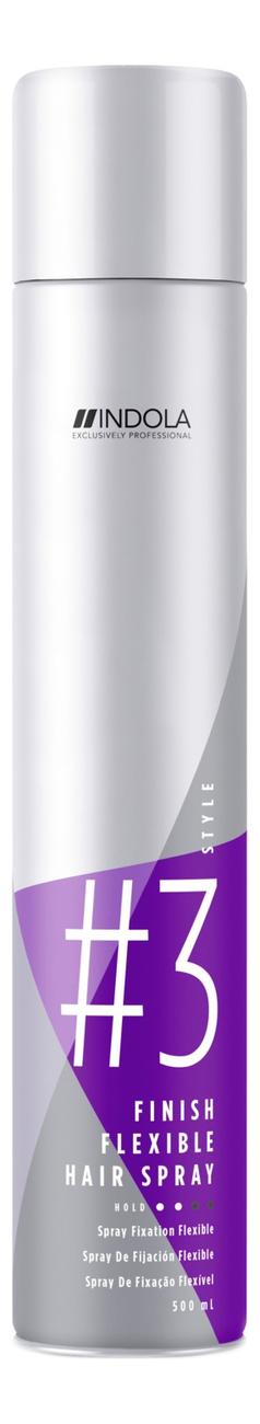 Лак для волос мягкой фиксации Innova Finish Flexible Hair Spray 500мл indola finish gel spray style
