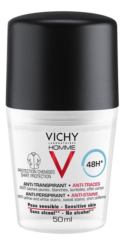 Шариковый дезодорант против пятен Homme Deodorant Anti-Transpirant 48H 50мл