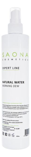 Вода природная после шугаринга Expert Line Natural Water Morning Dew: Вода 350мл креммаска гиалуроновая morning dew 50 мл premium polyfill active