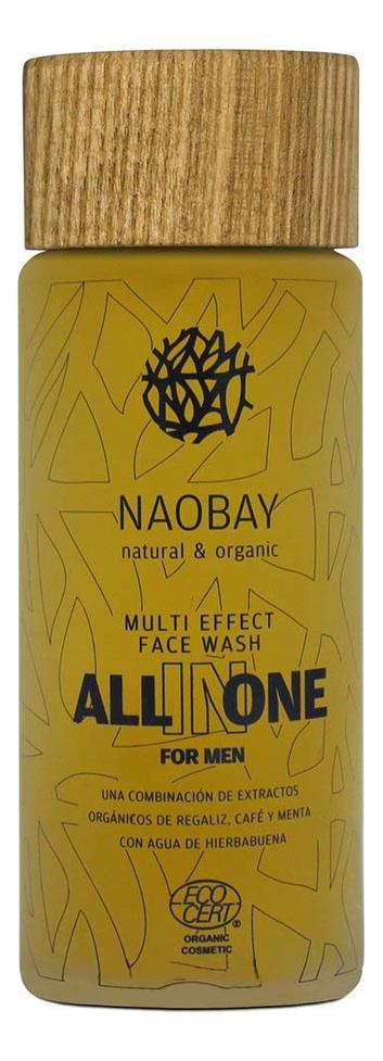 Мужской гель для лица All In One Multi Effect Face Wash 100мл крем для ухода за кожей naobay ecocert all in one