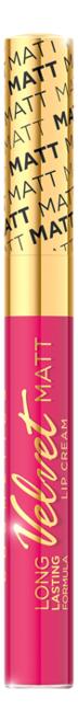 Жидкая матовая губная помада Velvet Matt Lip Cream 9мл: No 411 губная помада lip color 5г red matt