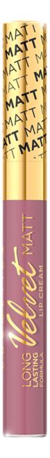 Жидкая матовая губная помада Velvet Matt Lip Cream 9мл: No 413 губная помада lip color 5г red matt
